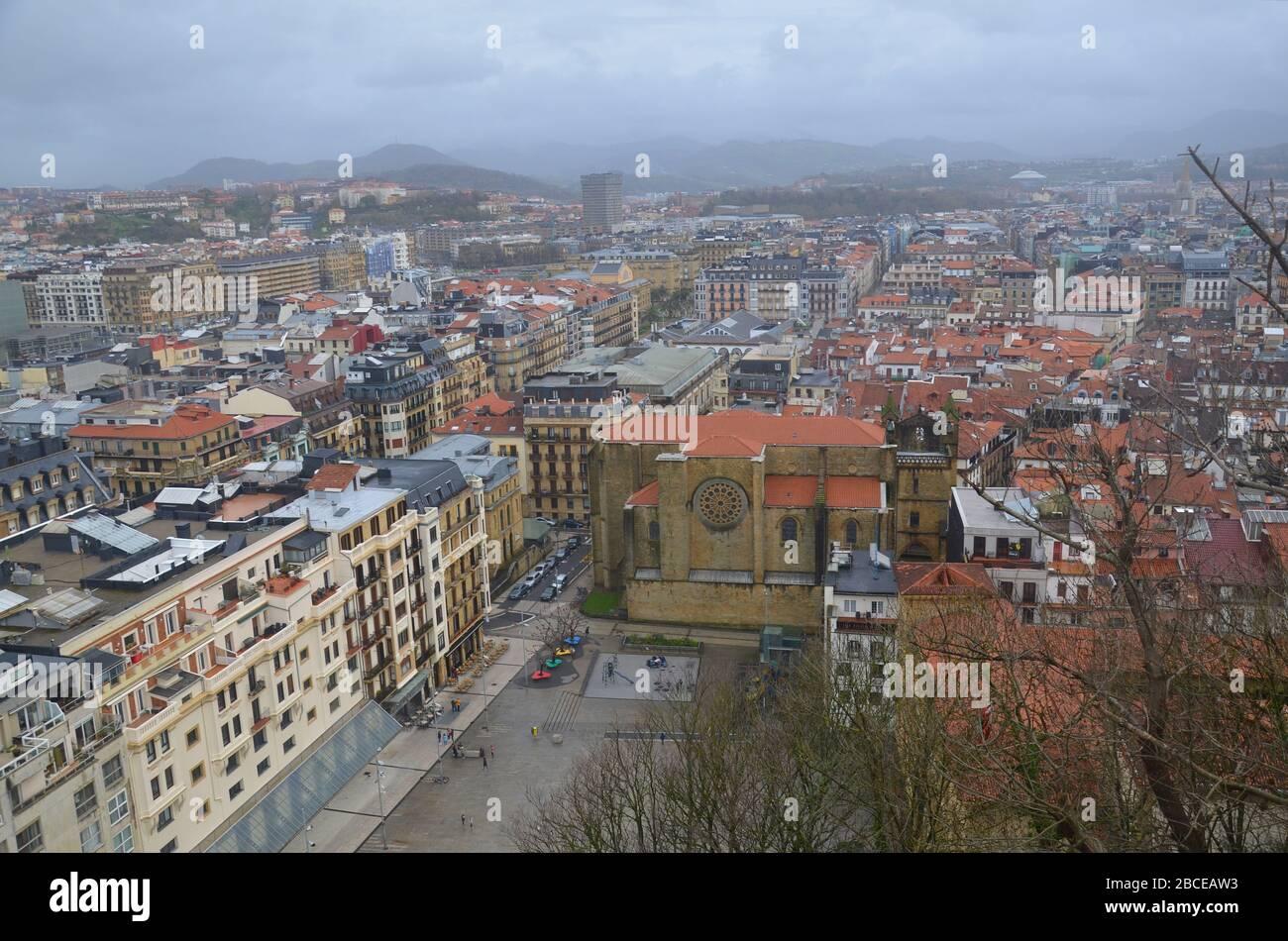 San Sebastian-Donostia im Baskenland, Spanien, an der Atlantik Küste: Blick von der Festung Stock Photo