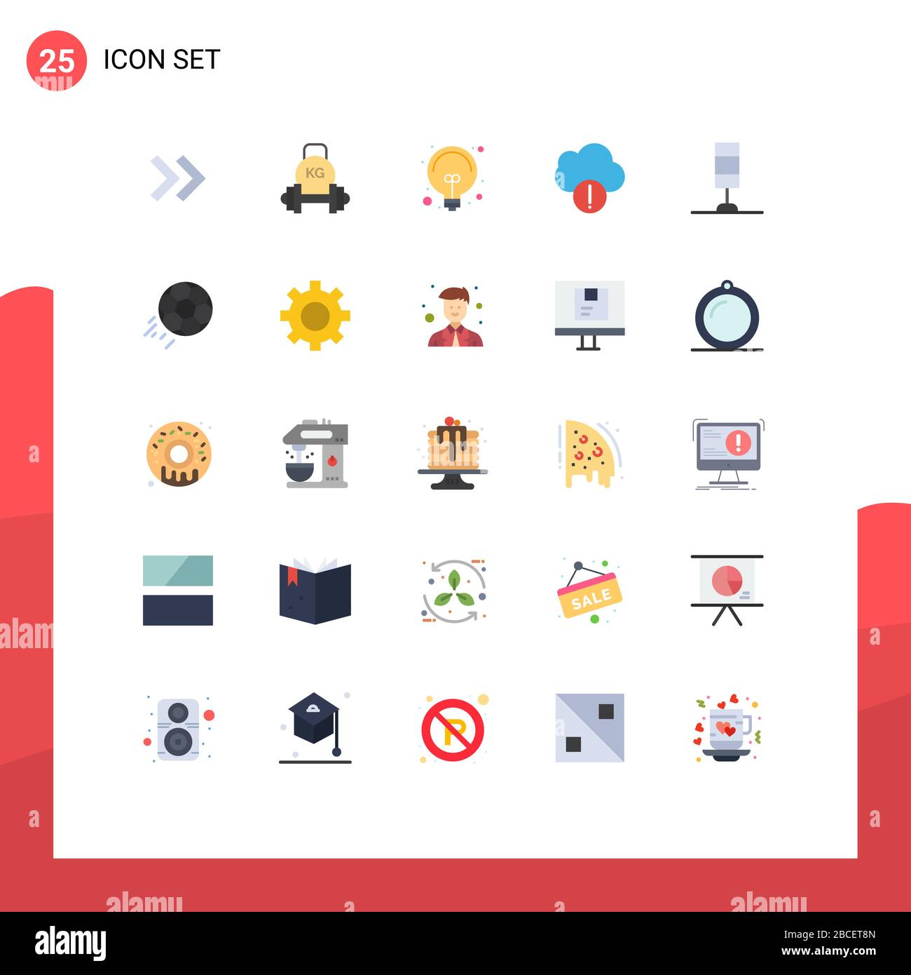 25 Flat Color Concept For Websites Mobile And Apps Light Interior Bulb Data Alert Editable Vector Design Elements Stock Vector Image Art Alamy