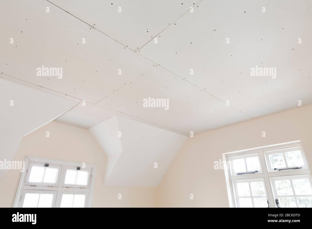 Gypsum Board Ceiling House Construction High Resolution Stock Photography And Images Alamy