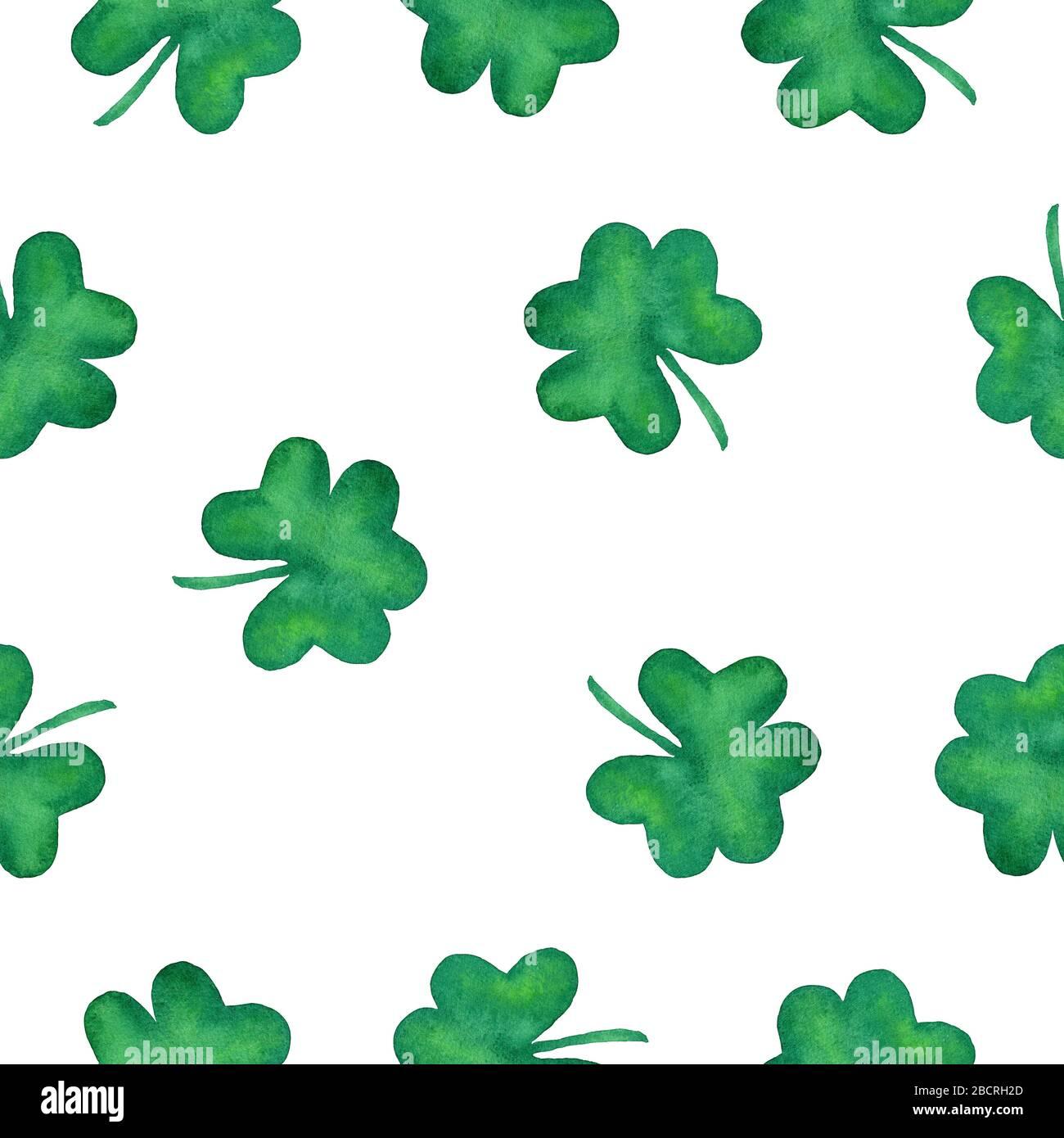 Made To Order St Patrick/'s Day St Paddy/'s Irish Watercolor Shamrocks Fabric By The Yard Shamrocks