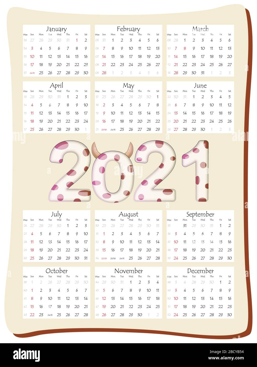 Yearly Calendar High Resolution Stock Photography and Images   Alamy
