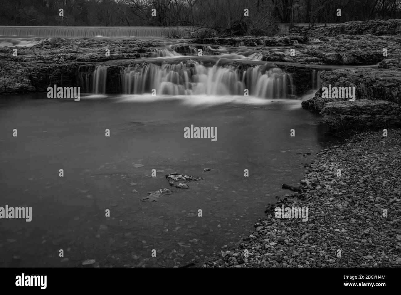 Grand Falls waterfall in Joplin, Missouri Stock Photo