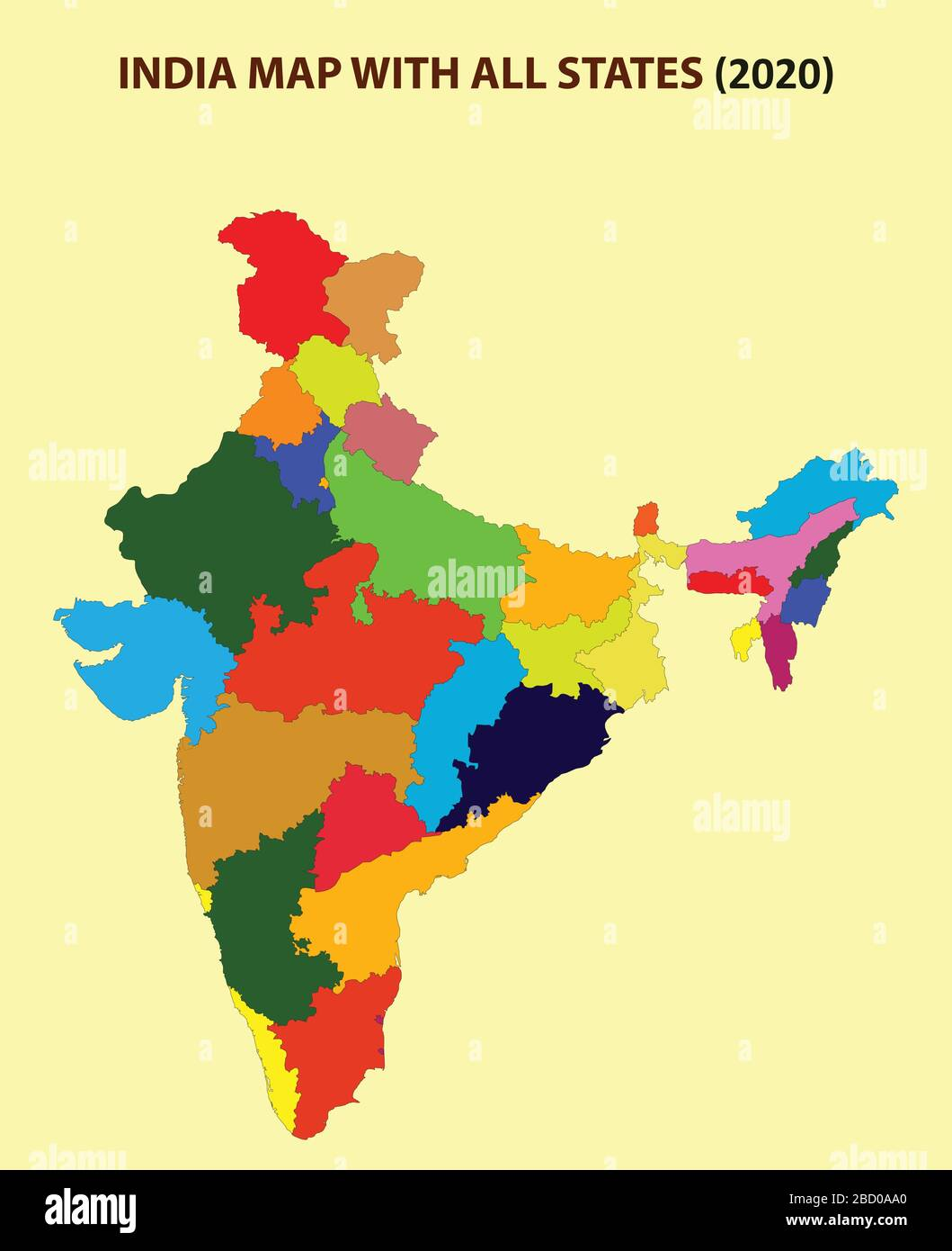 India Map With States High Resolution Stock Photography And Images Alamy