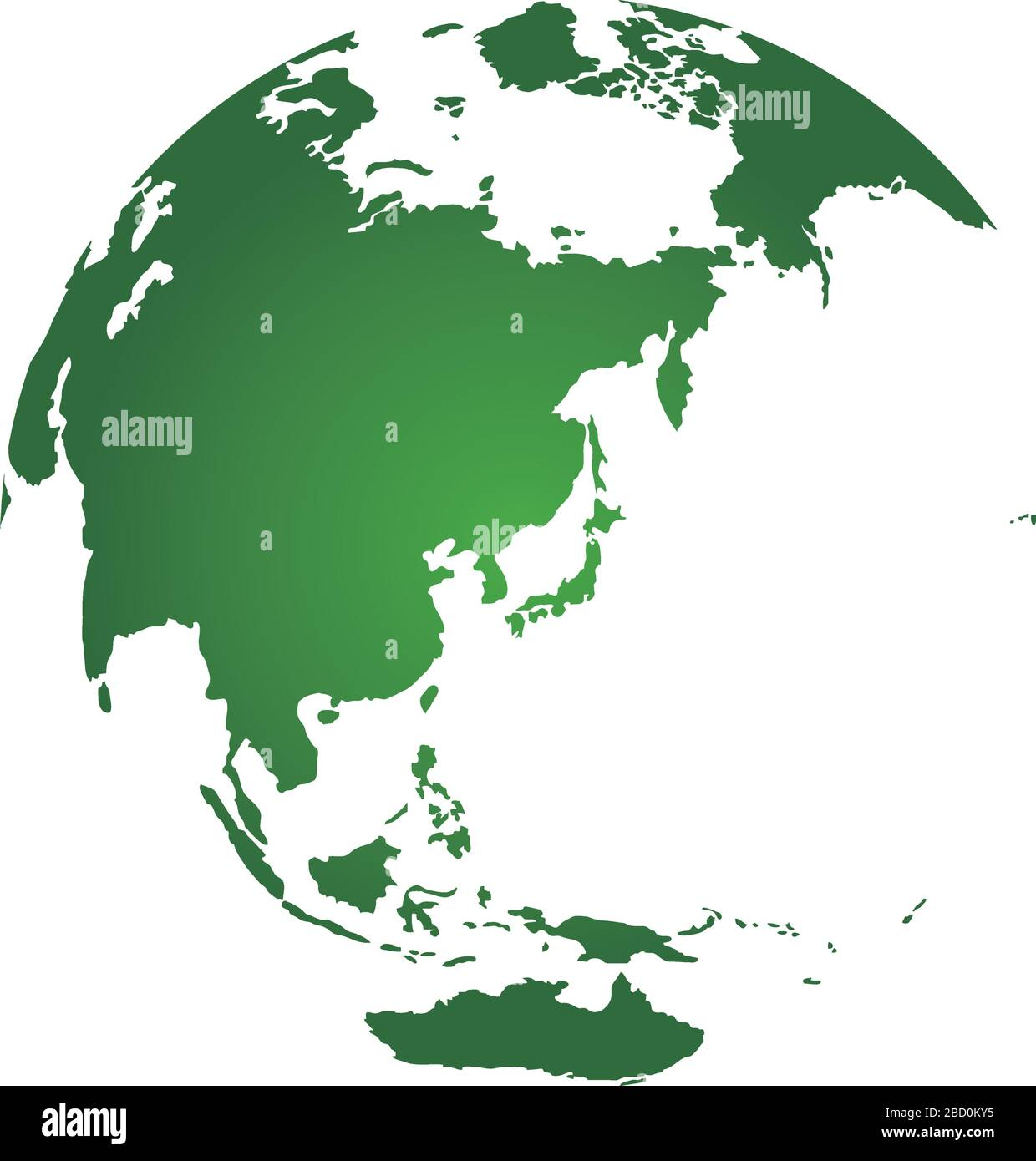 Picture of: World Map Illustration Globe Sphere Focus On Japan And East Asia Stock Vector Image Art Alamy
