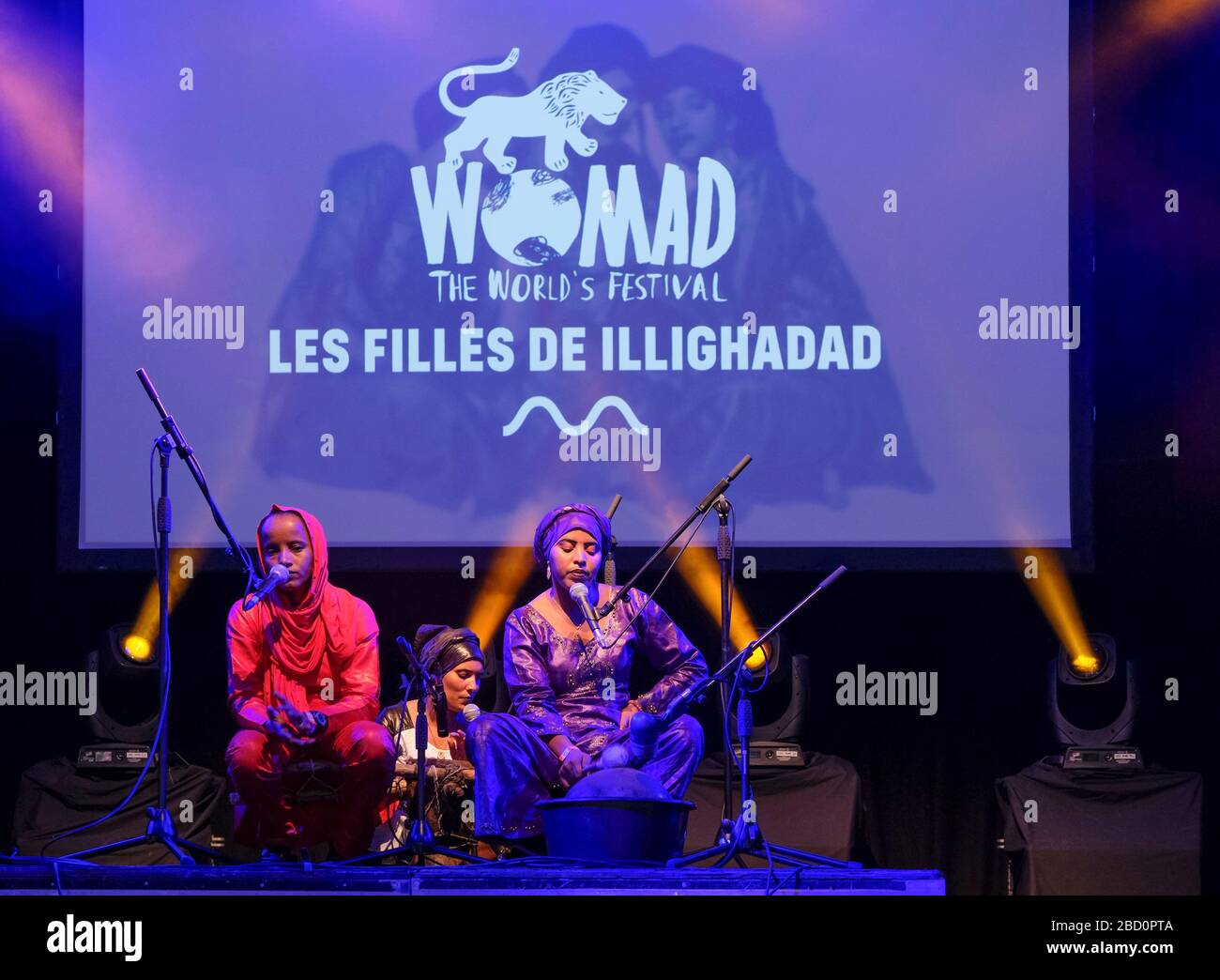 Les Filles de Illighadad performing at the WOMAD Festival ...