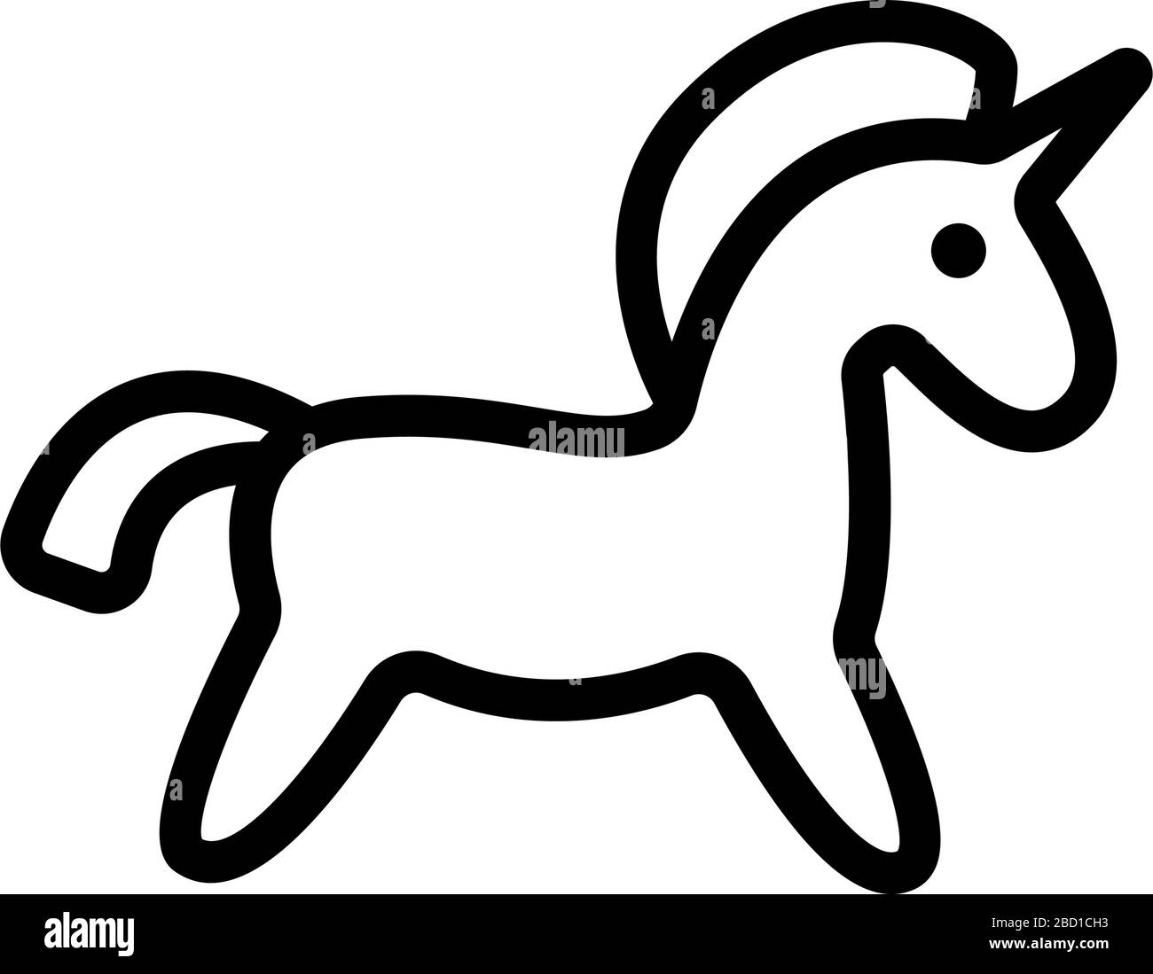 Horse Toy Icon Vector Outline Illustration Stock Vector Image Art Alamy