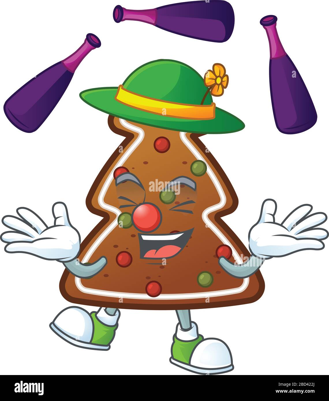 Mascot Cartoon Style Of Gingerbread Tree Playing Juggling On Stage Stock Vector Image Art Alamy Find & download free graphic resources for cartoon mascot. alamy