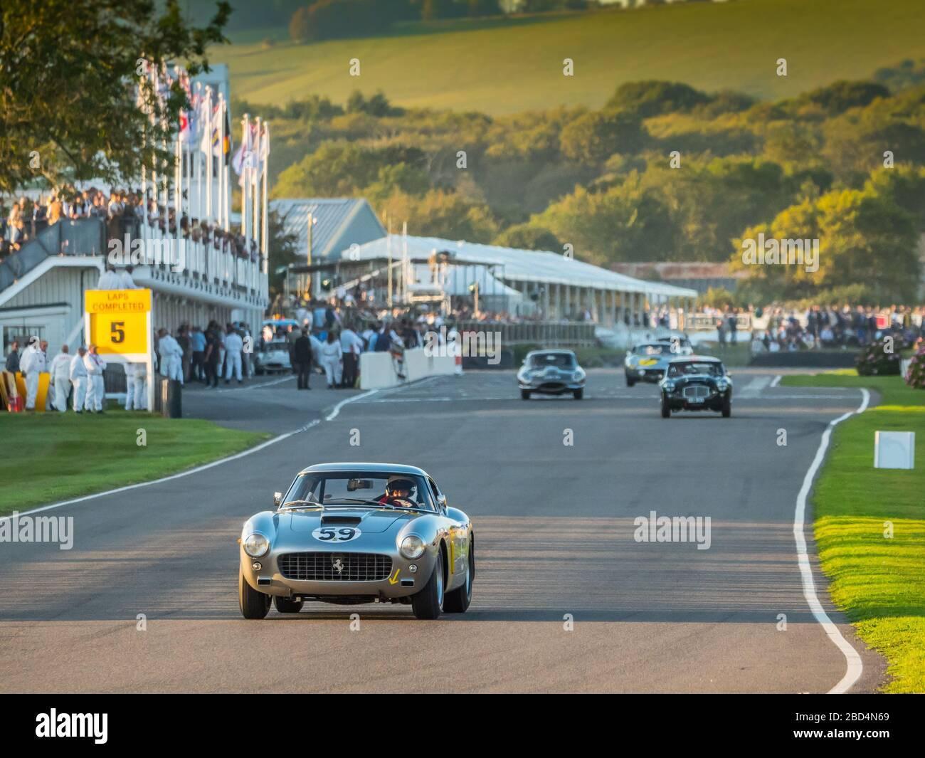 Ferrari 250 GT, Kinrara Trophy race , Goodwood Revival 2019 West Sussex UK Stock Photo