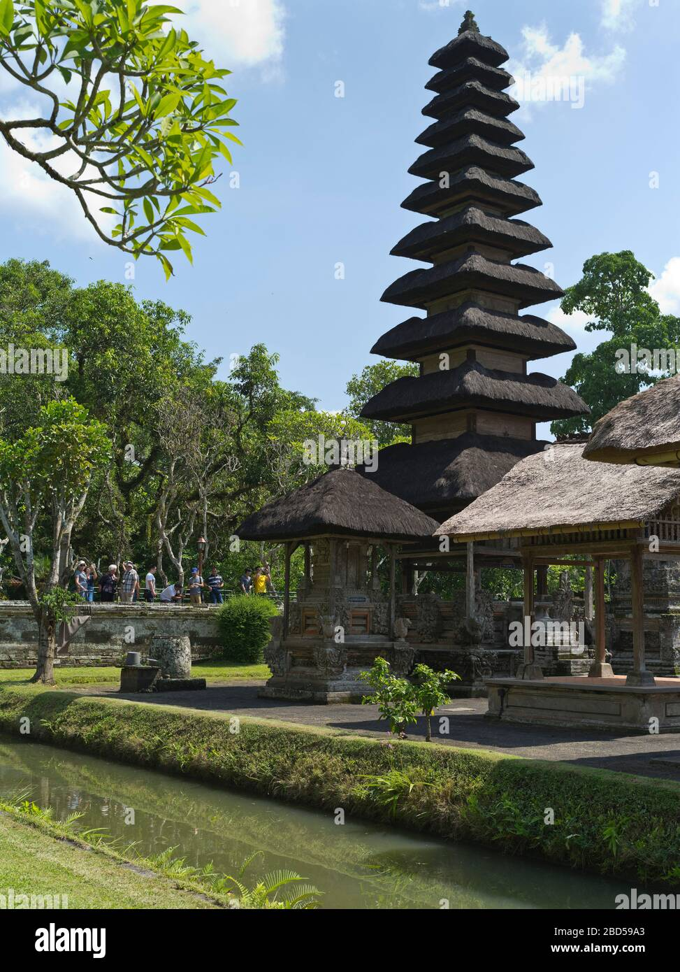 dh Pura Taman Ayun Royal Temple BALI INDONESIA Balinese Hindu Mengwi temples inner sanctum pelinggih meru tower shrine towers shrines turret Stock Photo