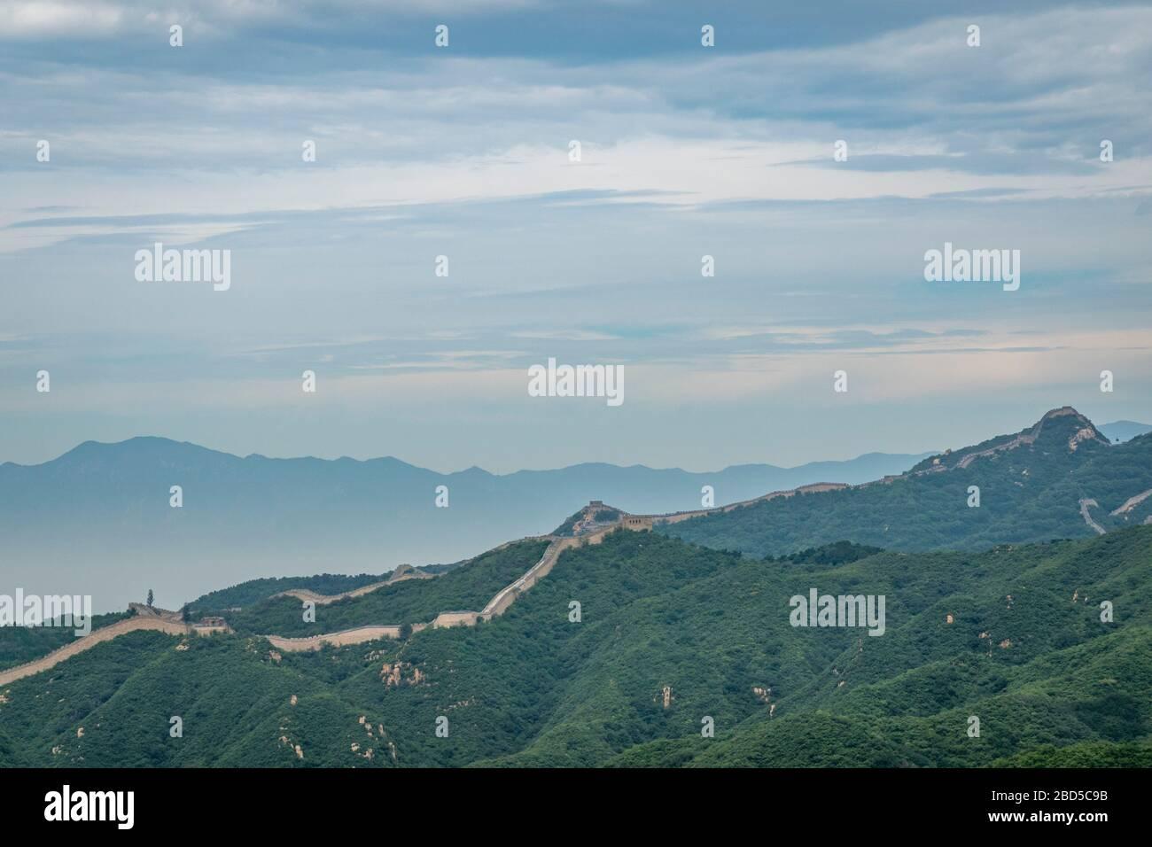 Great Wall of China, Yanqing District, near Beijing, China Stock Photo