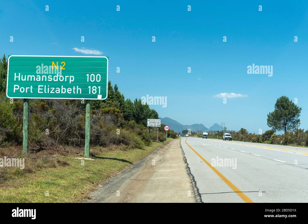 Tsitsikamma, Eastern Cape, South Africa. 2019. The N2 highway at Tsitsikamma  along the Garden Route a scenic drive. Stock Photo