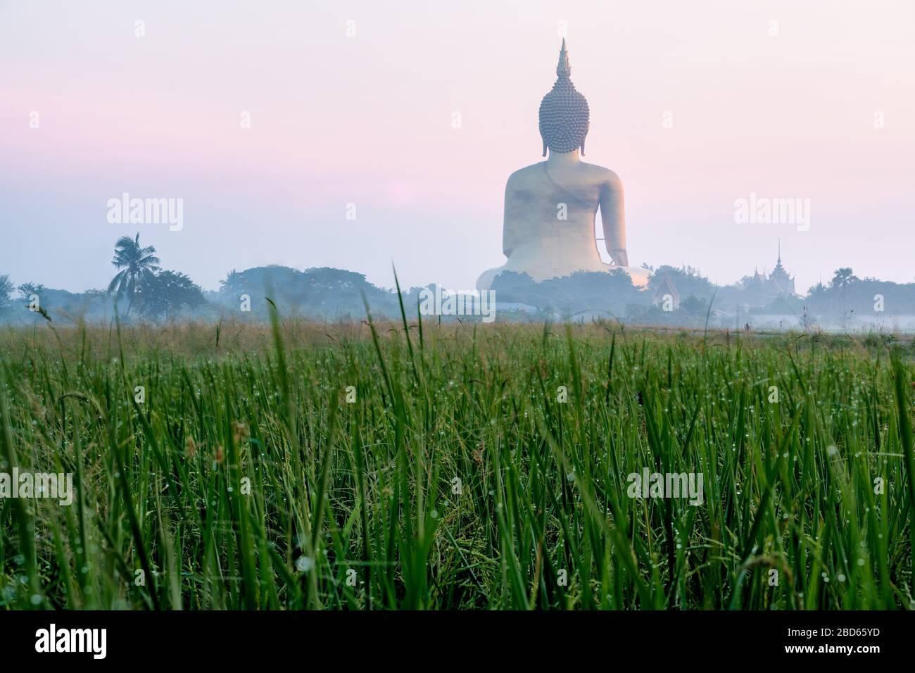 Wat Muang, Ang Thong, Thailand Stock Photo