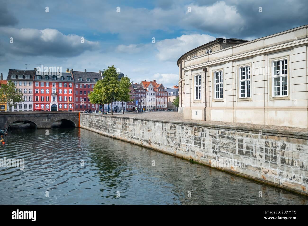 Beautiful Copenhagen city in Denmark Stock Photo