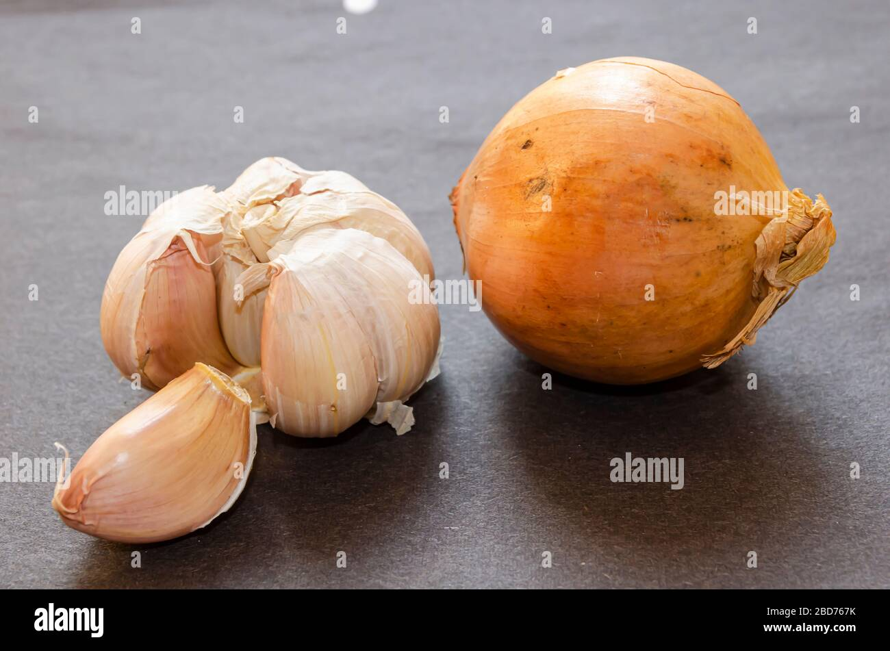 White Garlic And Onion Stock Photo