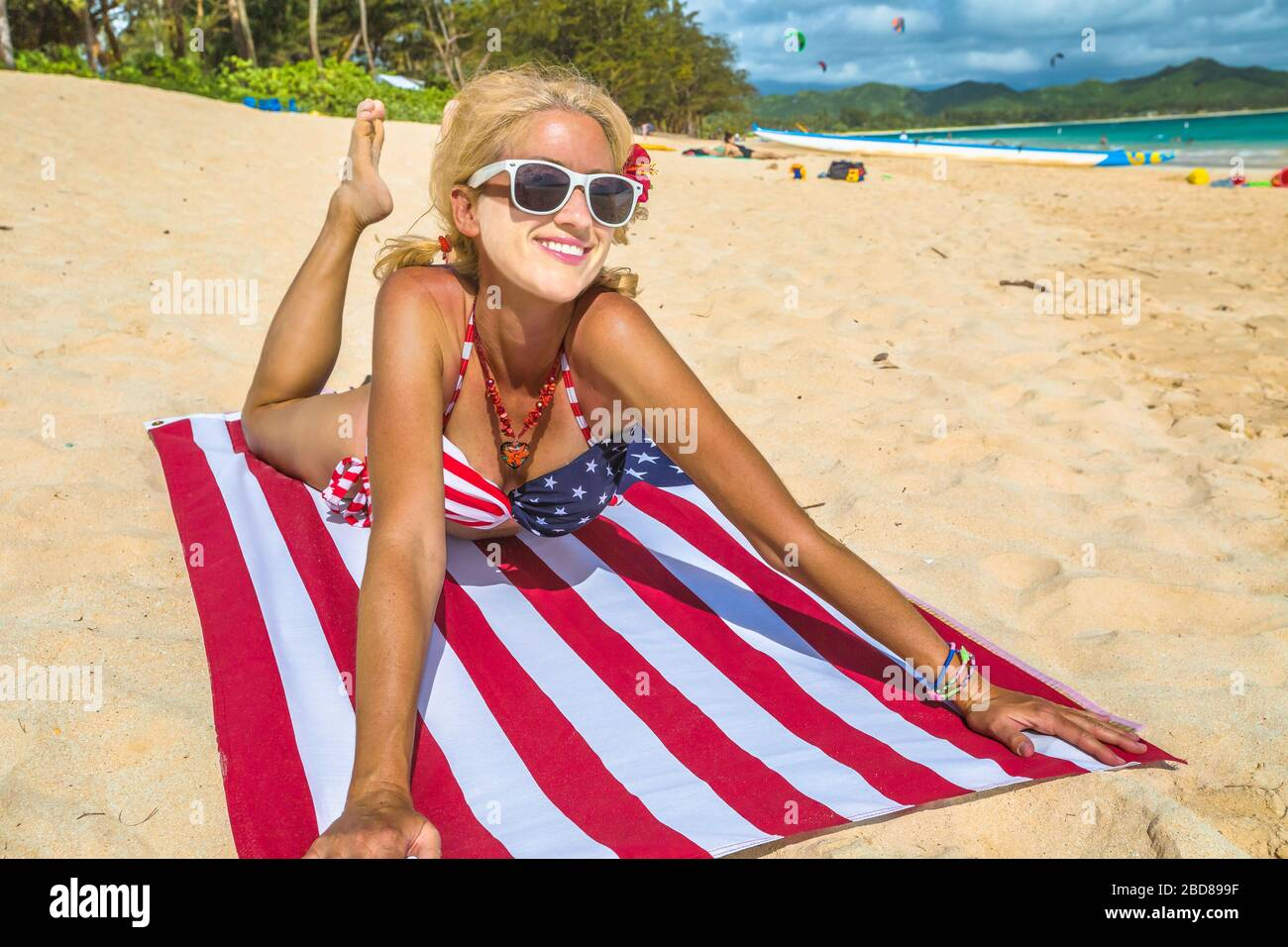 Picture Of Lanikai On Oahu 4 Lanikai Towel Package Large Hawaii Beach Towel!