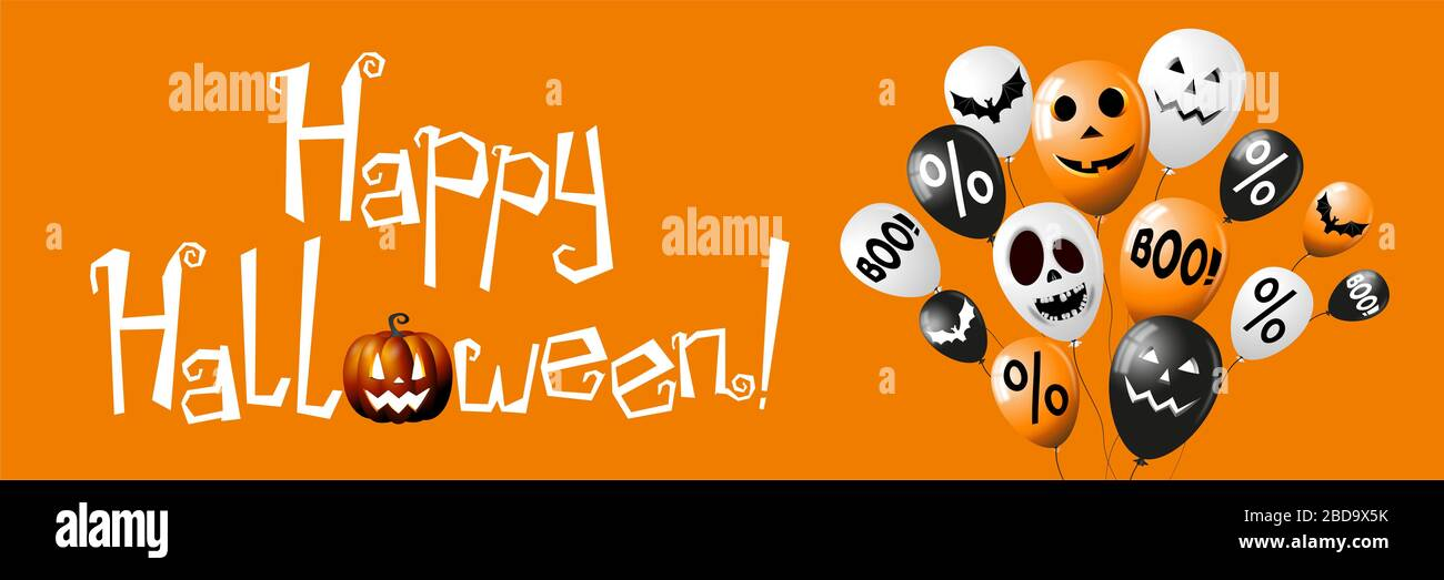 Happy Halloween Banner Poster Stock Photo Alamy