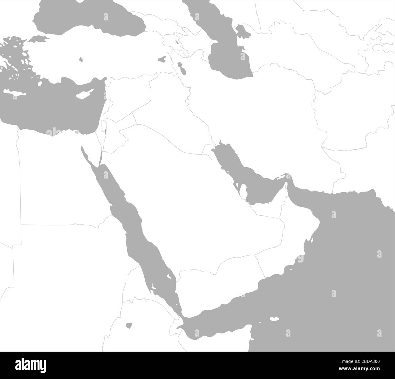 Image of: Middle East Arabian Countries Map No Text Stock Vector Image Art Alamy