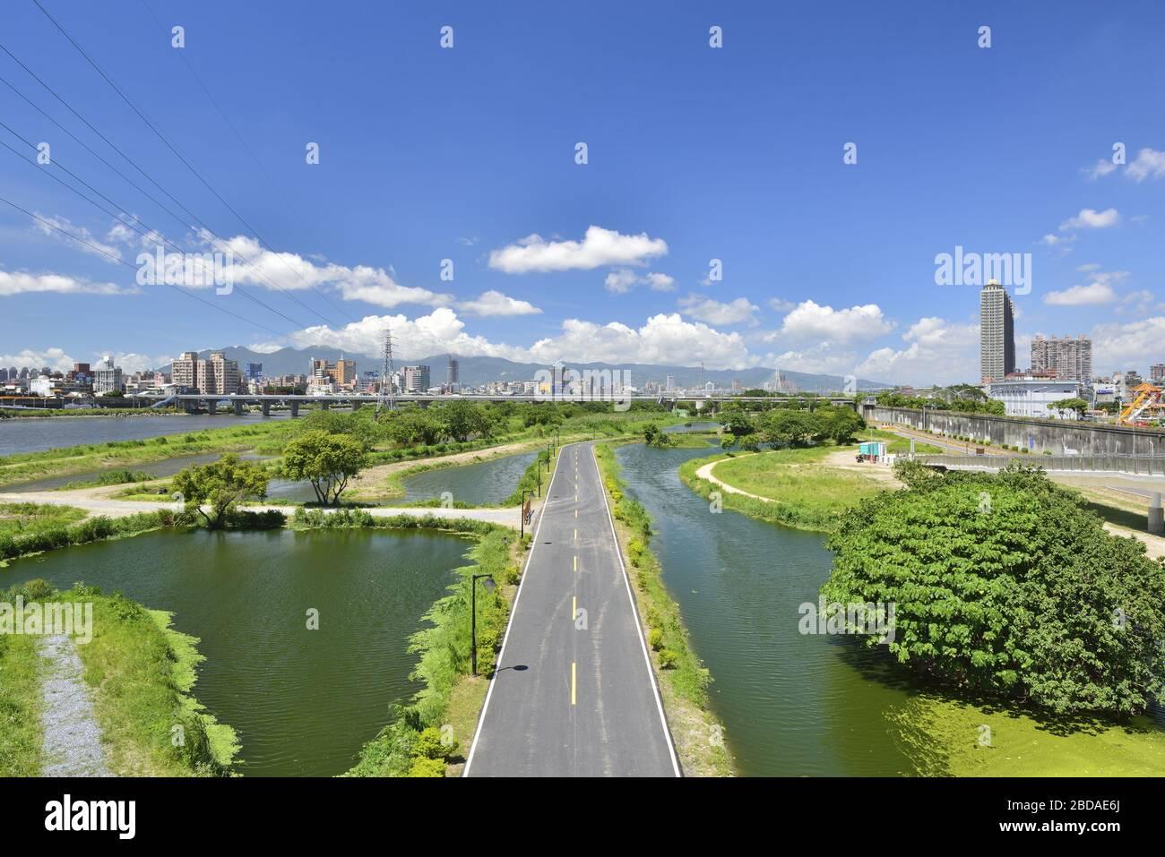 Xinhai Constructed Wetland Taiwan Stock Photo Alamy