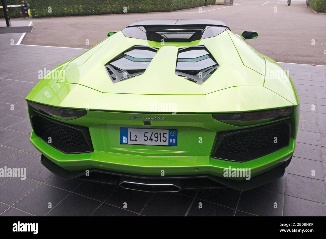 Lamborghini Rear View High Resolution Stock Photography And Images Alamy
