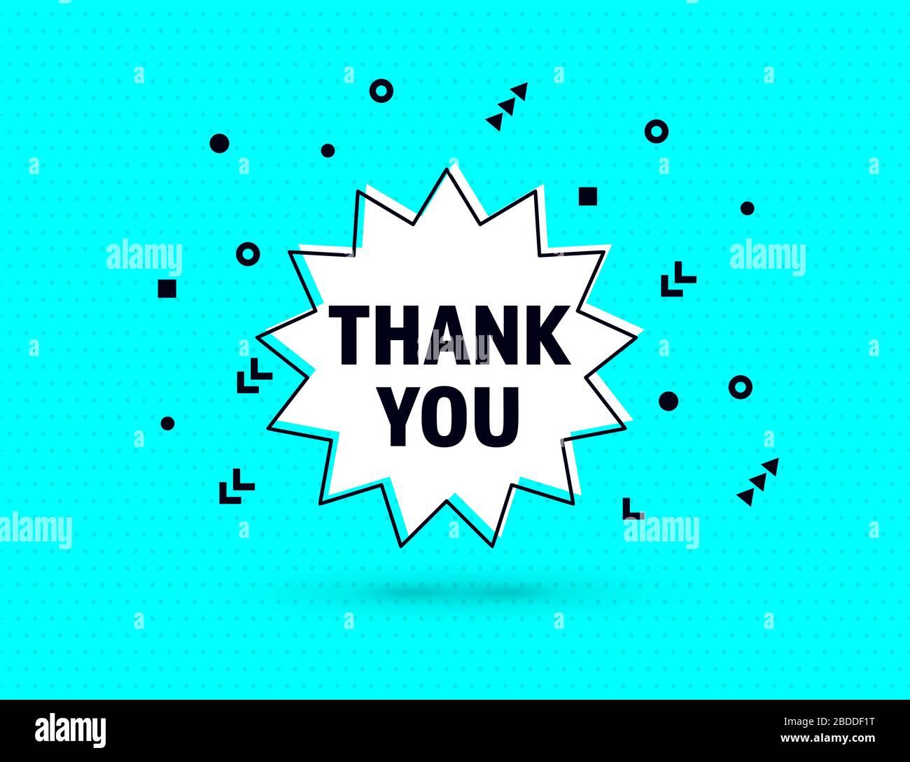 Thank you stickers Speech bubble Thanks, Thank you label Blue thank you