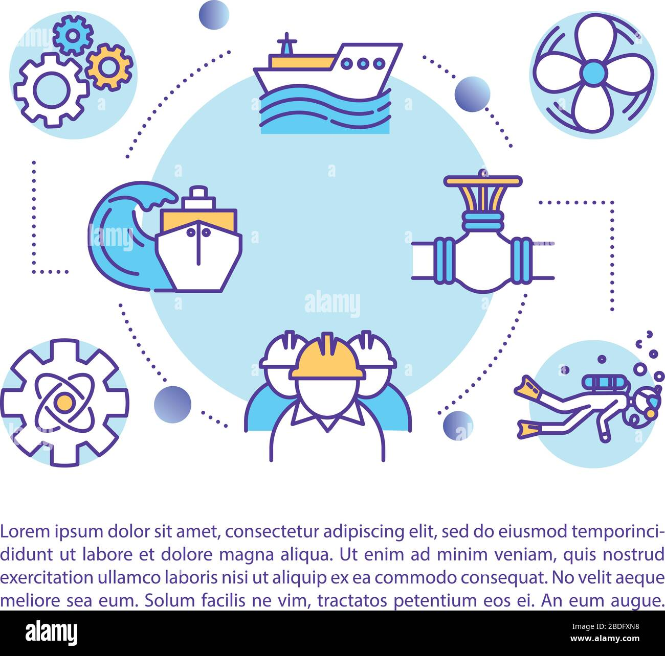 Marine Engineer Concept Icon With Text Ship Maintenance Crew Oceanographic Exploration Ppt Page Vector Template Brochure Magazine Booklet Design Stock Vector Image Art Alamy