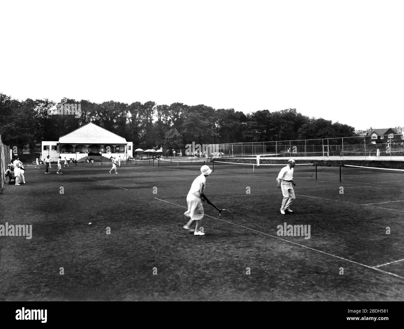 Early Tennis Black And White Stock Photos Images Alamy