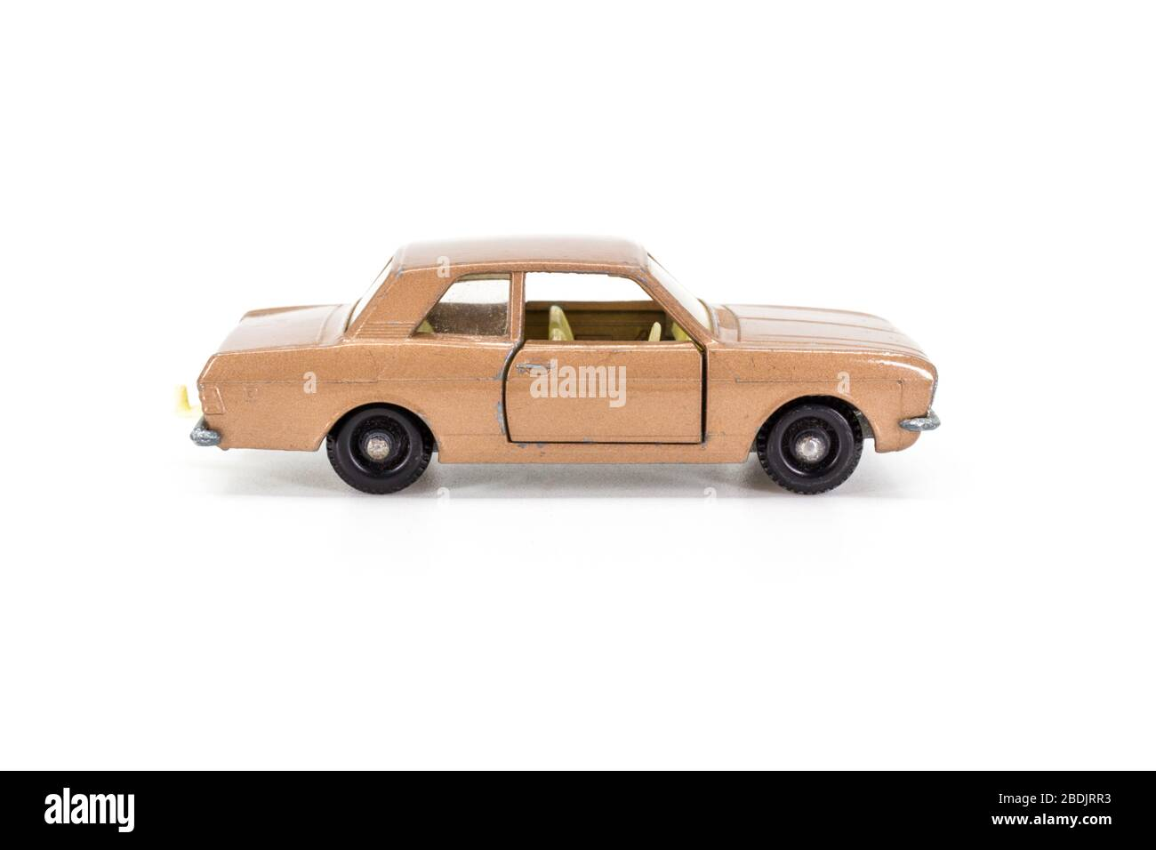 Lesney Products Matchbox model toy car 1-75 series no.25 Ford Cortina GT Stock Photo