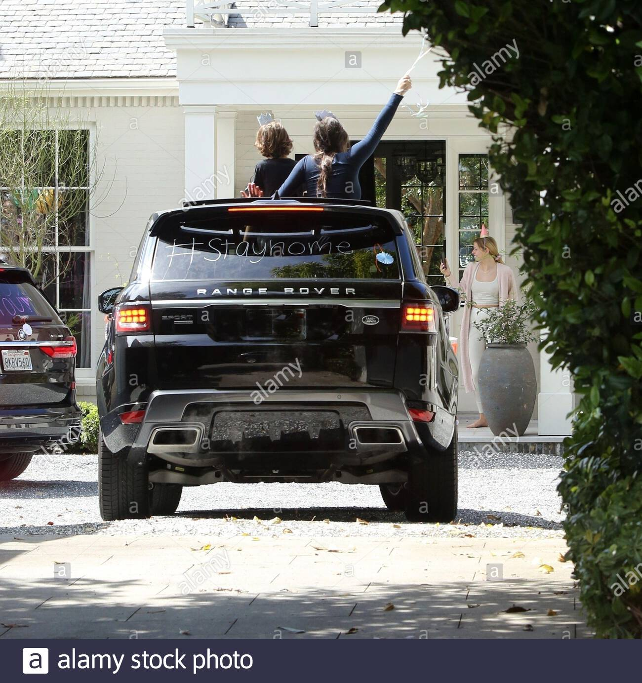 Exclusive Brentwood Ca Gwyneth Paltrow Has A Socially Distanced Drive By Birthday Party For Her Son Moses On His 14th Birthday Friends Drove Up In Cars Honking Their Horns And Playing