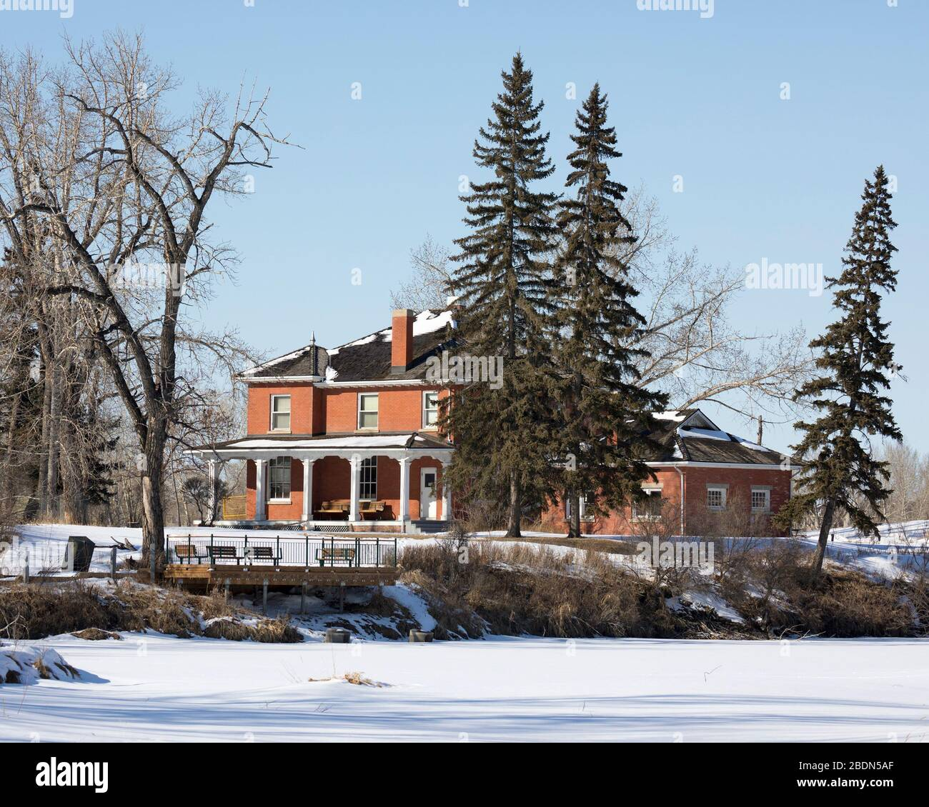 Historic Colonel James Walker house in Inglewood sanctuary, built in 1910 Stock Photo