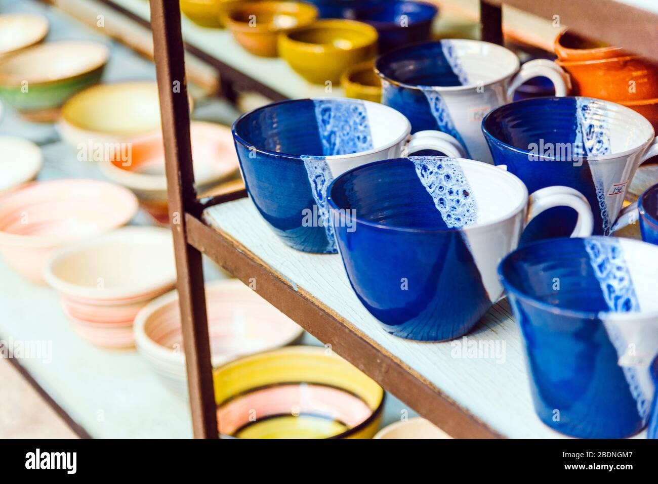 Beautiful Handmade Pottery Cup And Bowls Art Craftmanship Concept Stock Photo Alamy