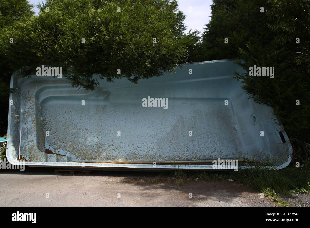 Abandoned Empty Swimming Pool On Car Park In Brittany France Stock Photo Alamy