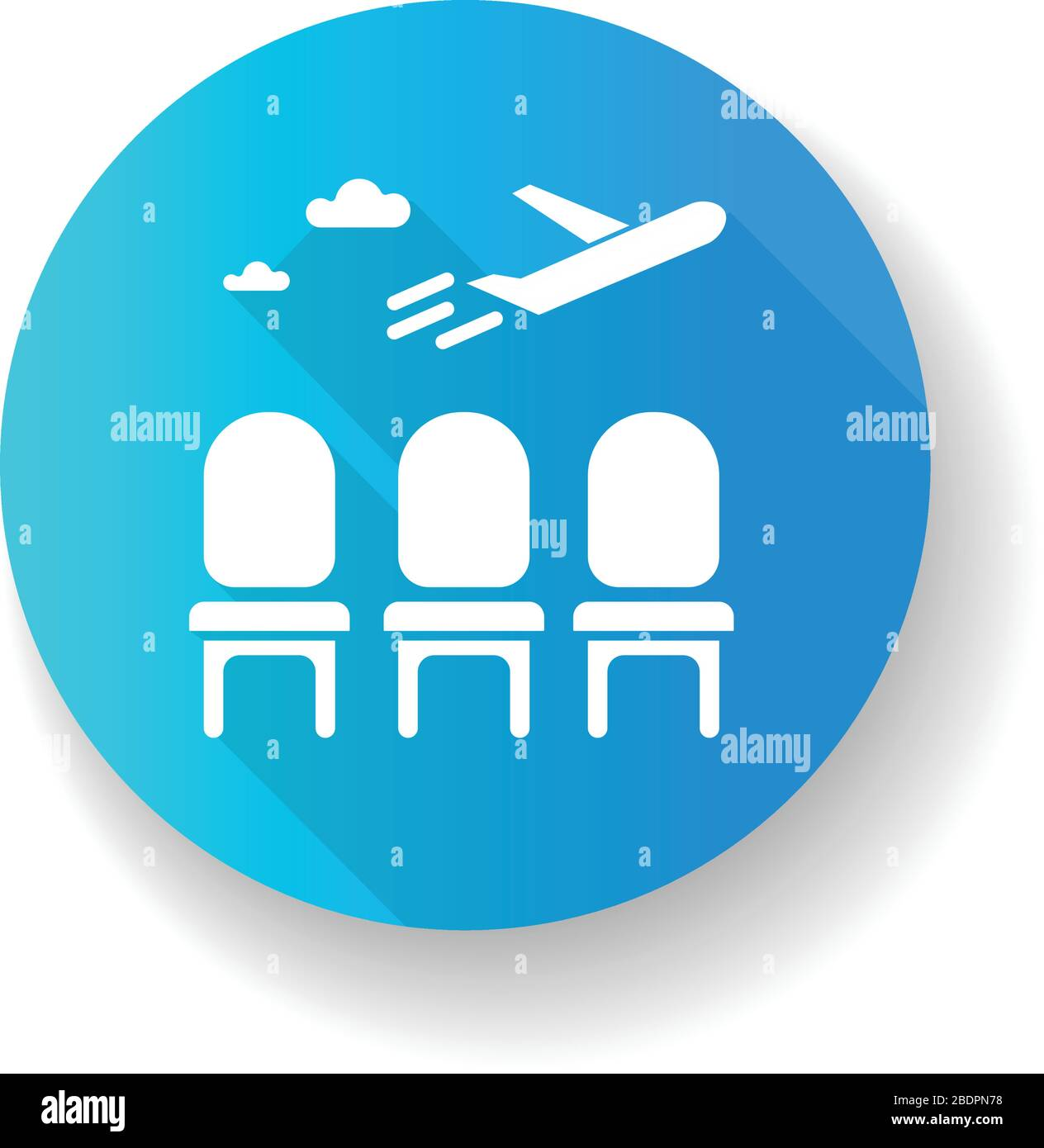 Airport Lounge Blue Flat Design Long Shadow Glyph Icon Waiting Lobby Before Airplane Departure Aircraft Lounge For Passengers Going On Vacation Stock Vector Image Art Alamy