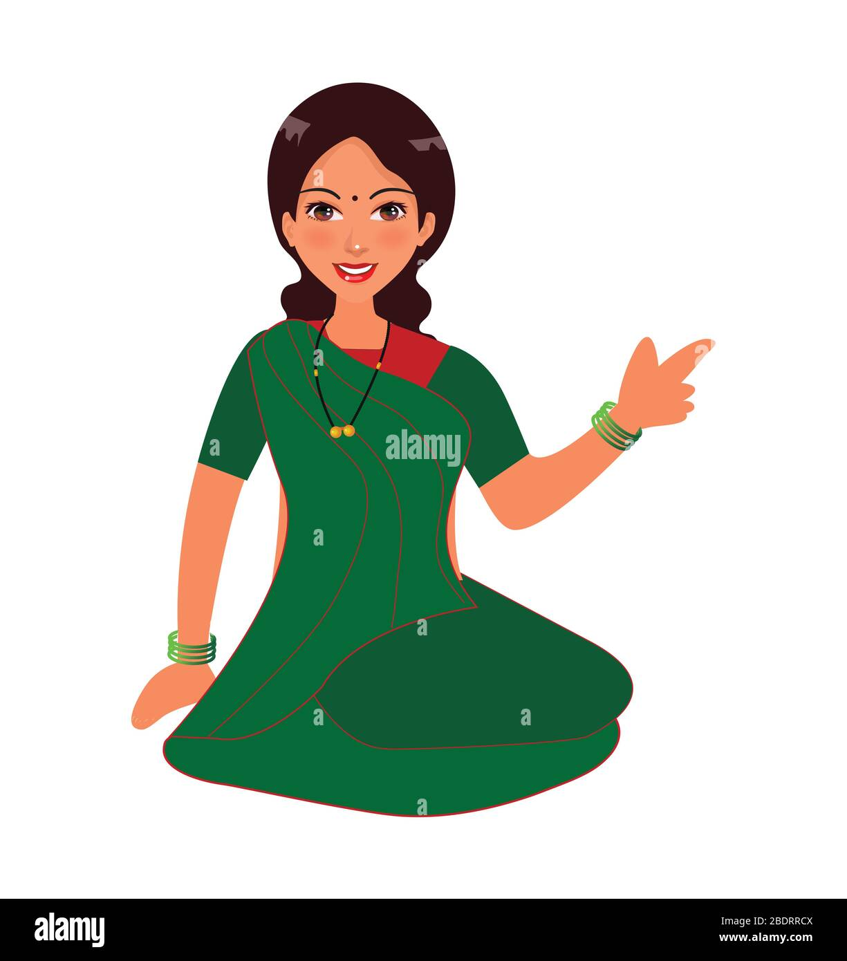 Indian Women Character Design Women Sitting In A Ground And Wearing Traditional Saree In Village Vector Art Of Indian Women With Tradition Dress Stock Vector Image Art Alamy