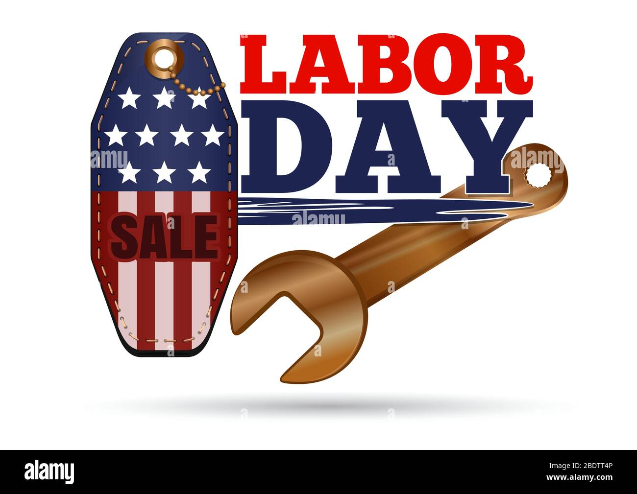 Labor Day Sales Tag Vector Illustration On White Stock Vector Image Art Alamy