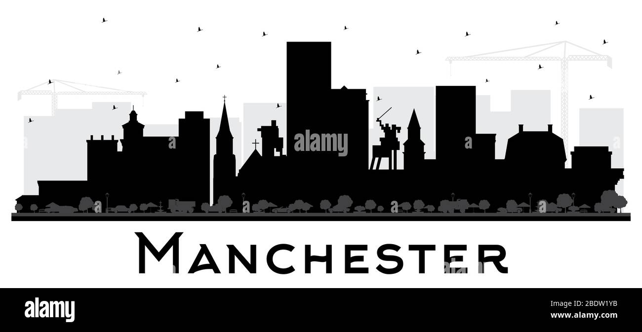 Manchester 3D Cityscape Skyline Card Silhouette