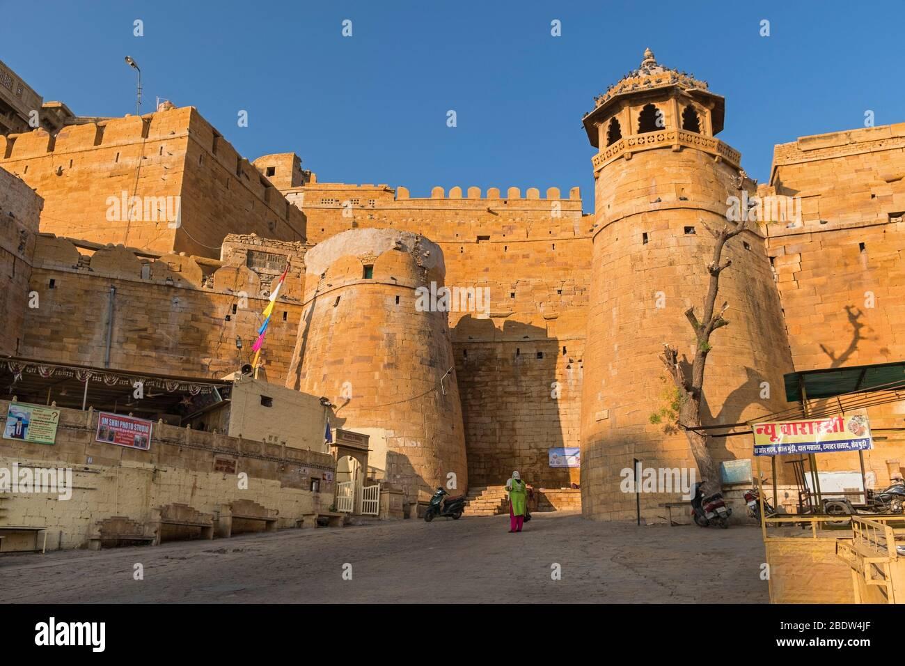 Jaisalmer Fort Rajasthan India Stock Photo