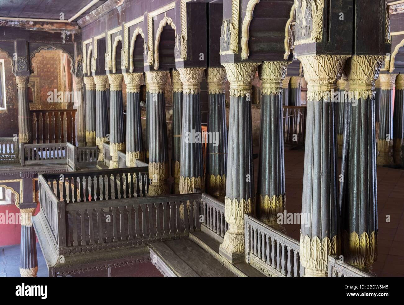 Tipu Sultan's Summer Palace Bangalore Karnataka India Stock Photo