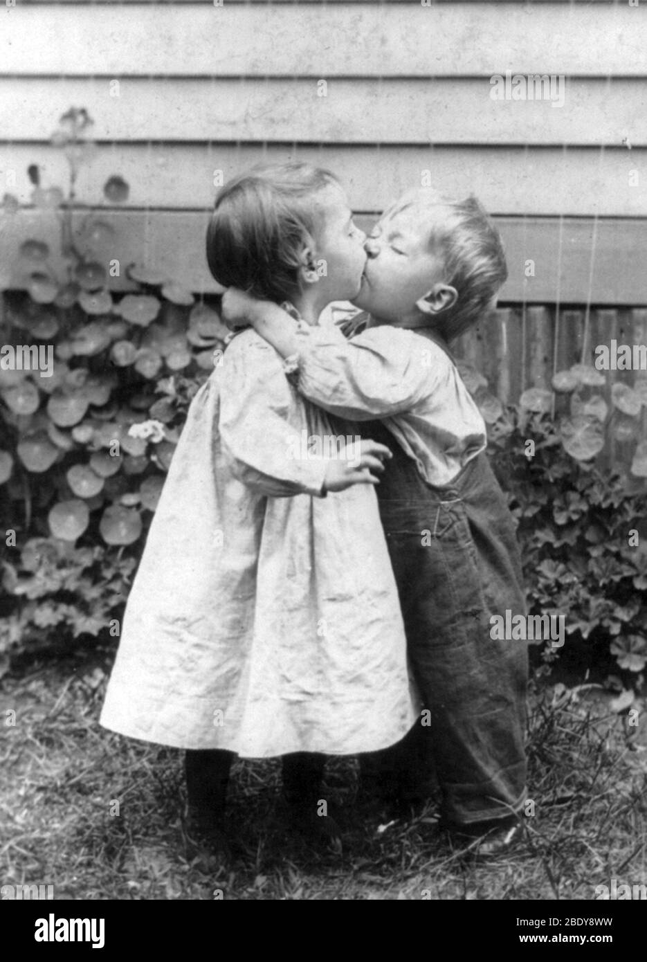"""""""She Gets the Kiss"""", 1898 Stock Photo"""