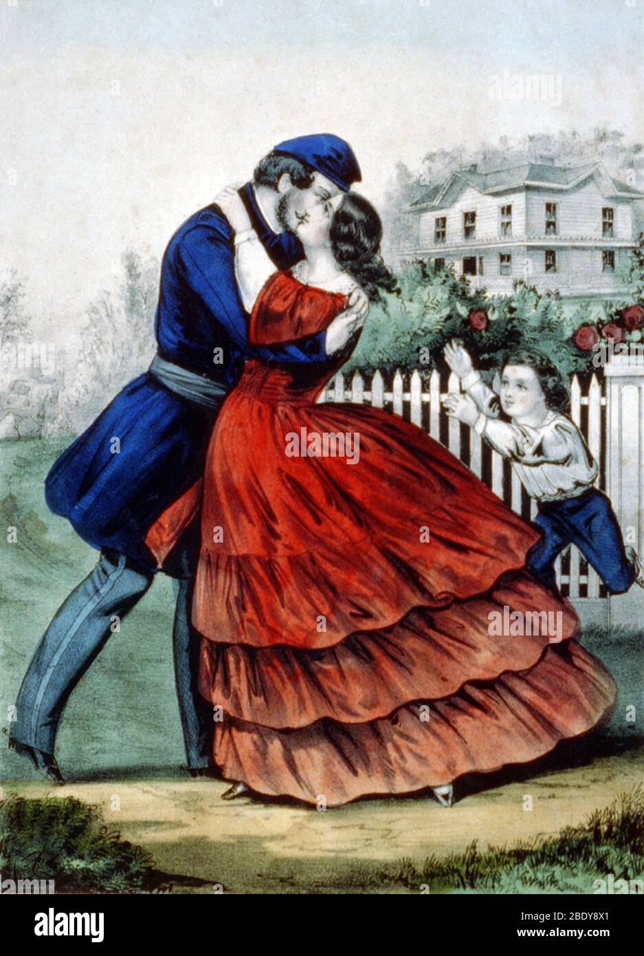 Home from the War, 1862 Stock Photo