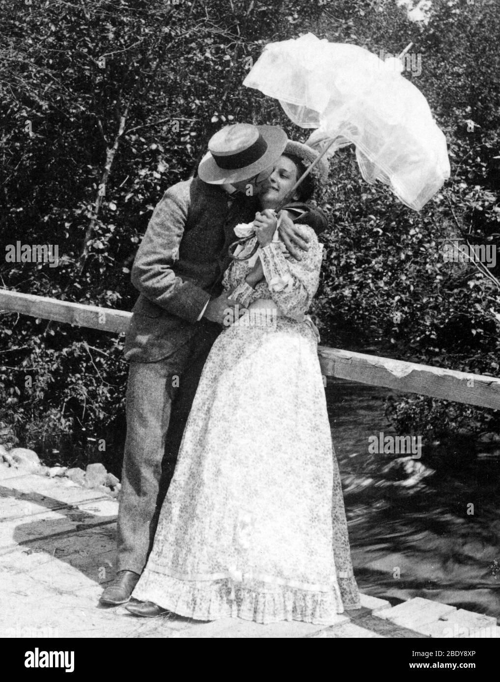 Summer Sweethearts, 1897 Stock Photo