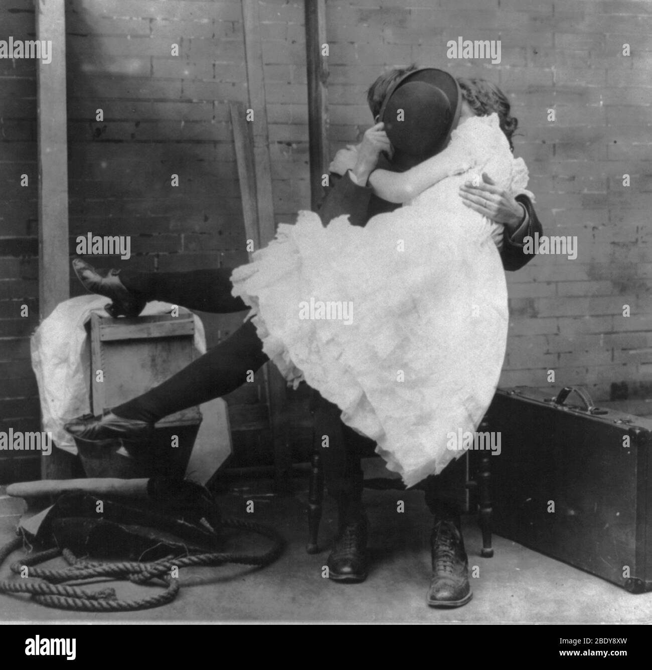 """""""Affected Modesty"""", 1901 Stock Photo"""