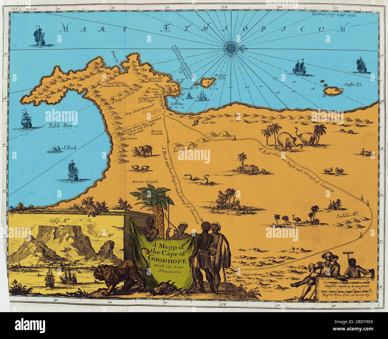 Cape Of Good Hope Map High Resolution Stock Photography And Images