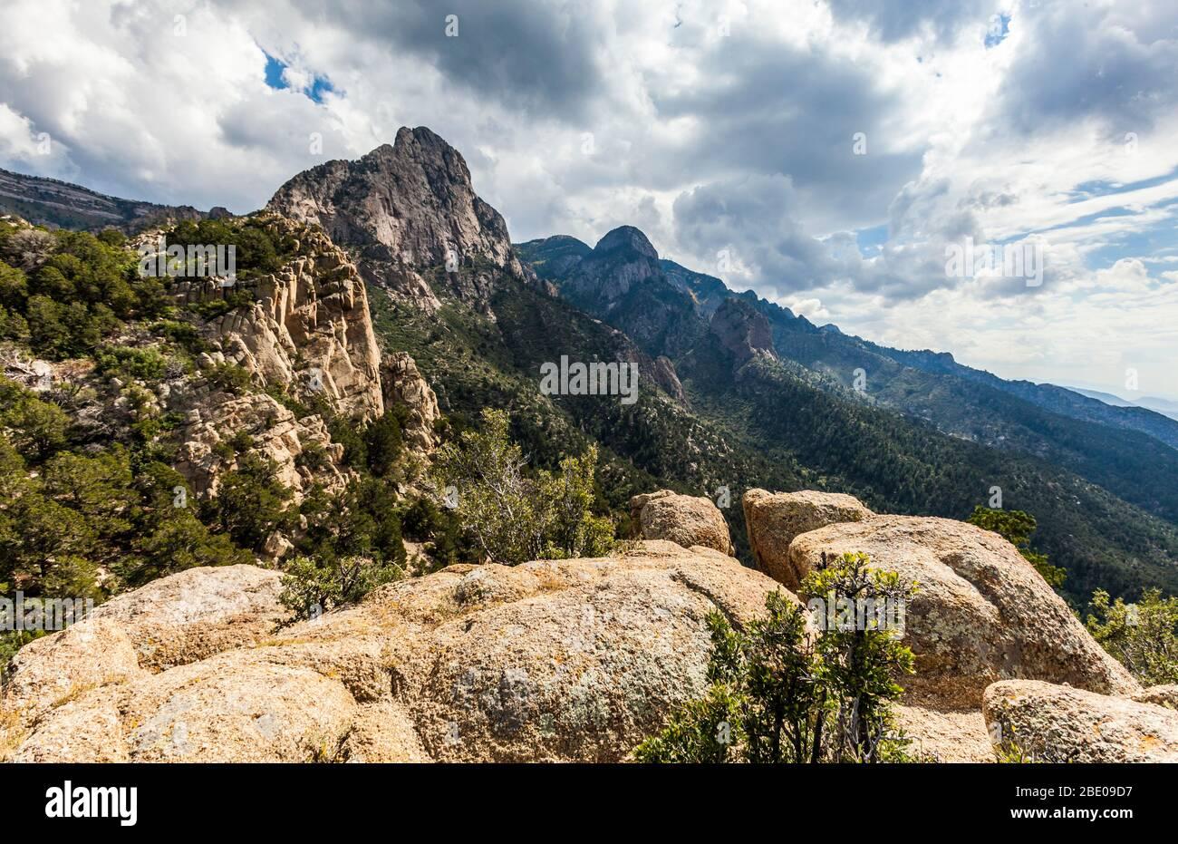 The Sandia Mountains outside Albuquerque, New Mexico, USA. Stock Photo