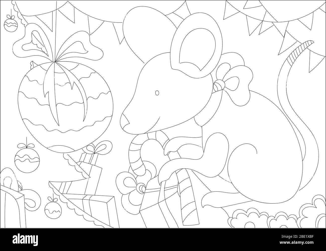 Christmas coloring Pages. Coloring Book for adults. Pile of ... | 1003x1300