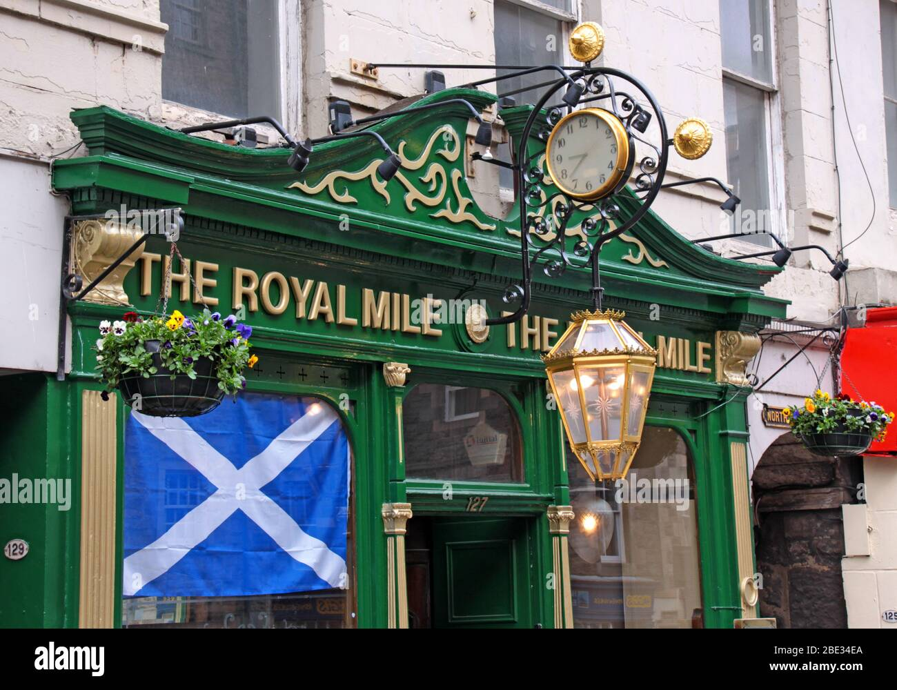 The Royal Mile, Edinburgh , Scotland, UK Stock Photo