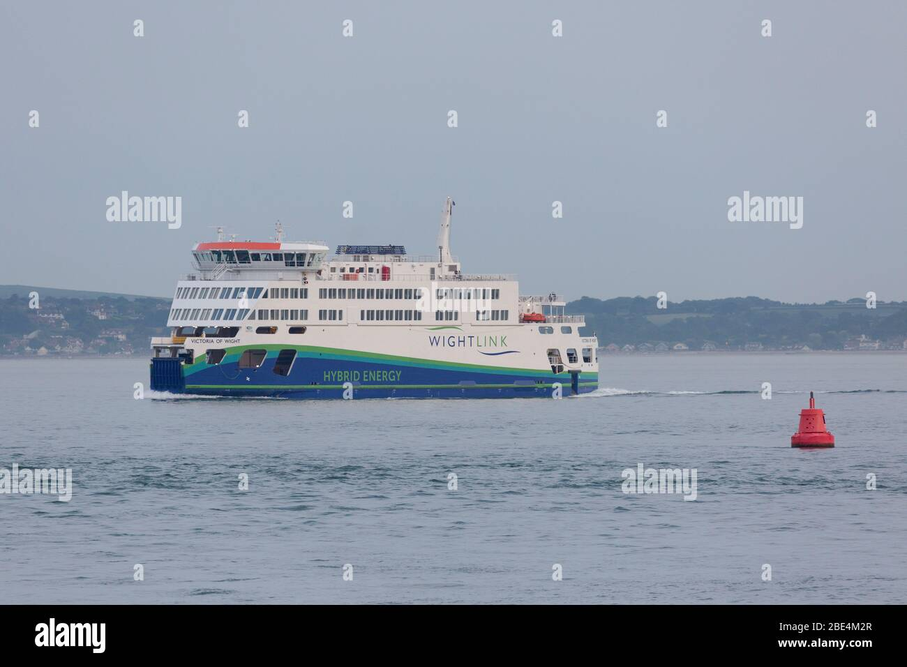 The ferry Victoria of Wight arrives Portsmouth. Stock Photo
