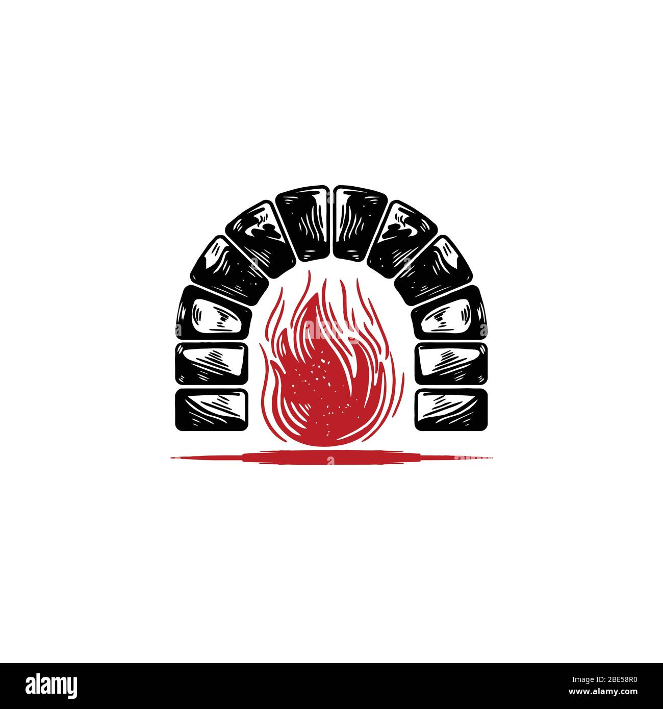 Rustic Bricks Stones Fireplace Logo Ideas Inspiration Logo
