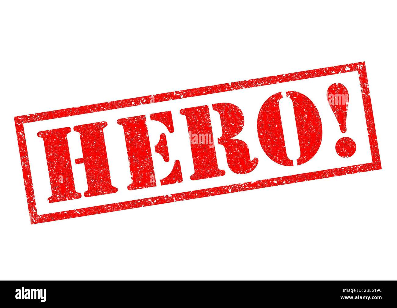 HERO! red Rubber Stamp over a white background. Stock Photo
