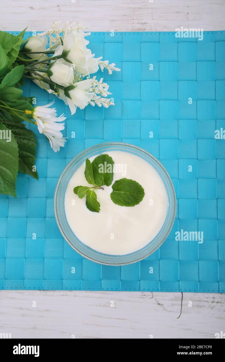 Caspian Sea Yogurt Stock Photo