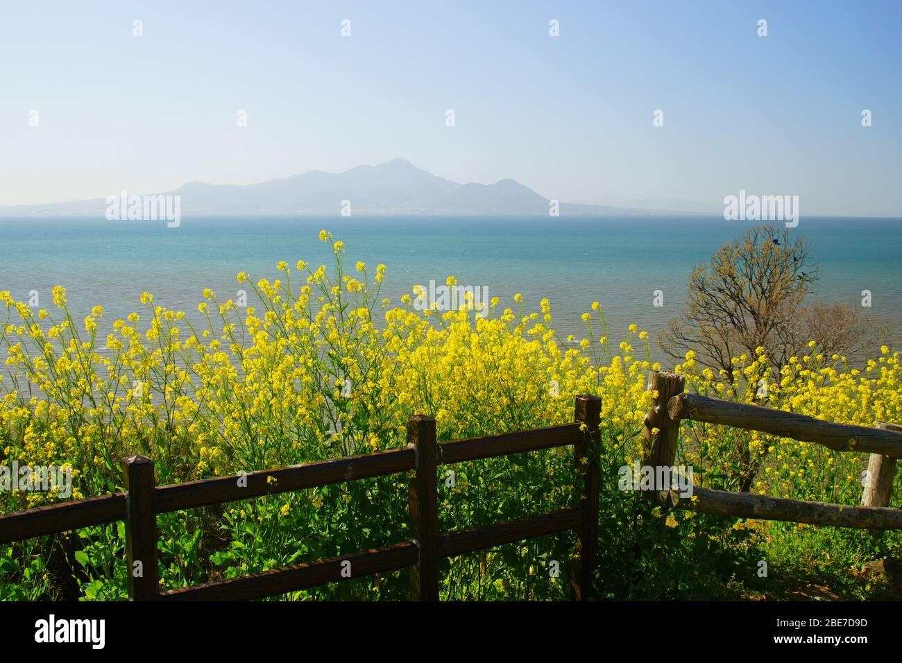 Okoshiki Sea Shore, Kumamoto Prefecture, Japan Stock Photo